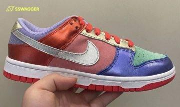 Nike Dunk Low Multicolor新色首曝光!罕見金屬色系皮革迎奧運?