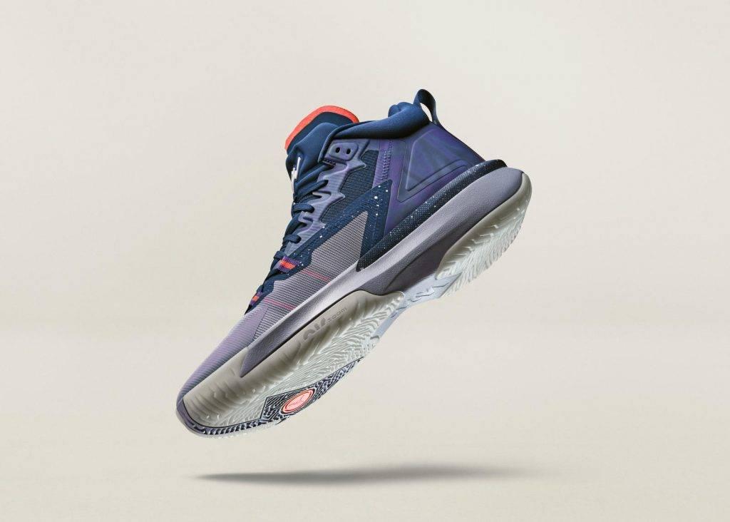 Zion Nike Jordan Brand ZNA blue purple red colourway