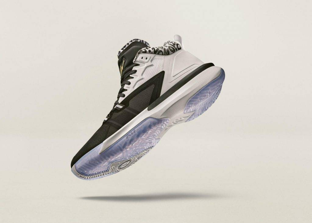 Zion Nike Jordan Brand Black and white colourway