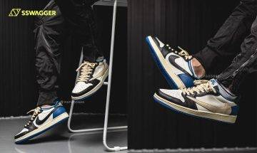 Travis Scott x fragment design x AJ1 Low上腳預覽!必成經典聯乘作