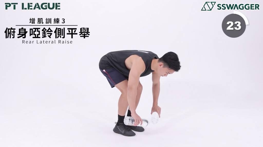 上半身增肌3分鐘即可!SSwagger PT League 型男教練示範6個鍛鍊手臂及背部動作 - Rear Lateral Raise
