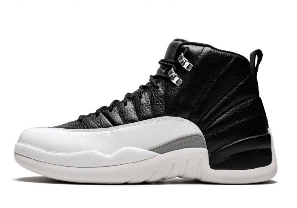"""Air Jordan 12 """"Playoffs"""" black and white and red colourway to be release in 2022 spring"""