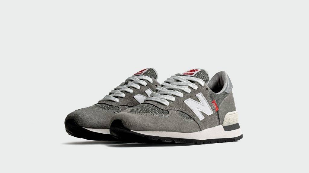 New Balance 990V1 grey red white colourway
