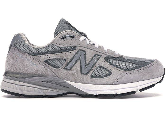 New Balance 990 V4 Grey colourway with leather and pig skin suede