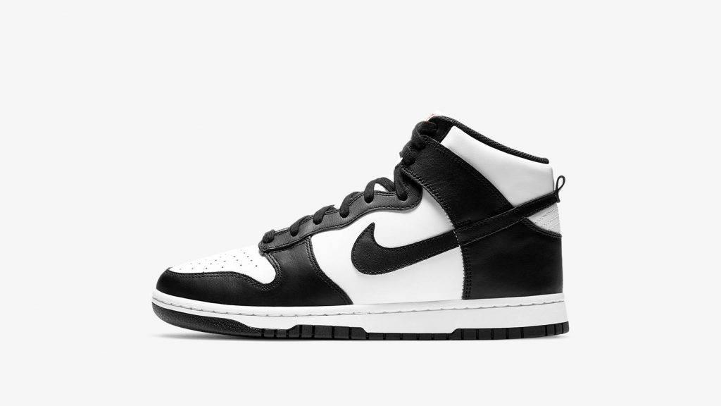 Nike Dunk High Panda black and white colourway