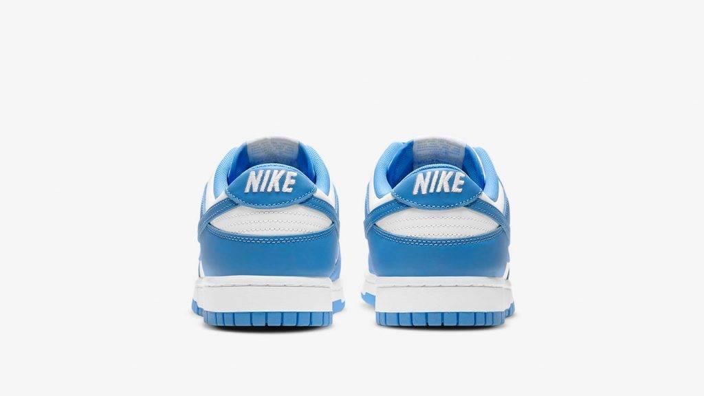 Nike Dunk Low University Blue white and university blue colourway