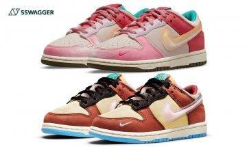 Social Status x Nike Dunk Low雙色官方圖曝光!將牛奶盒配色注入設計