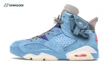 Travis Scott x Air Jordan 6 Light Blue首曝光!搶購潮將再度引爆