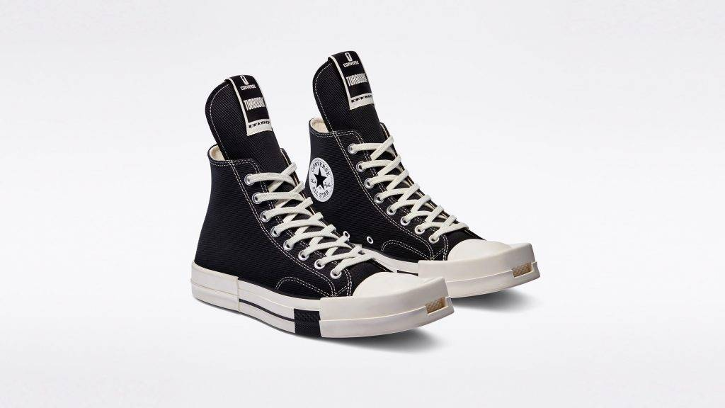 DRKSHDW x Converse TURBODRK black and white colourway
