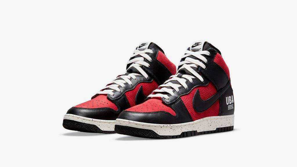 UNDERCOVER x Nike Dunk High UBA black and red colourway