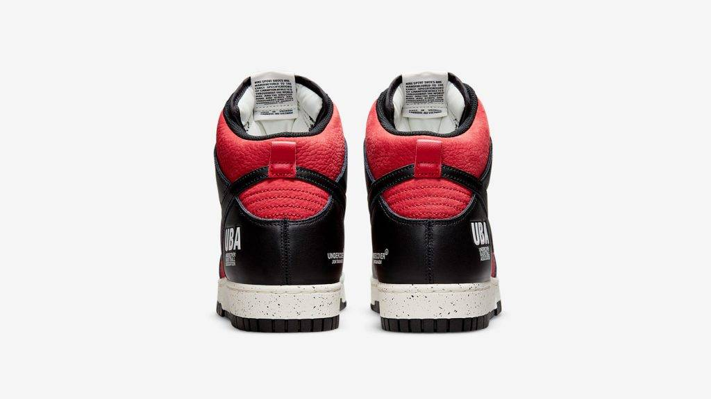 UNDERCOVER x Nike Dunk High「UBA」black and red colourway