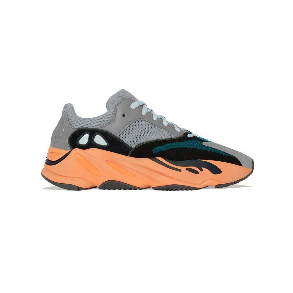 adidas YEEZY BOOST 700 Wash Orange grey black green orange colourway