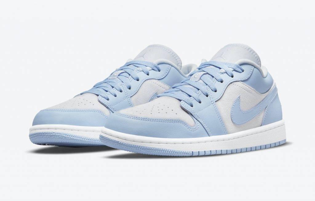 Air Jordan 1 Low University Blue grey suede