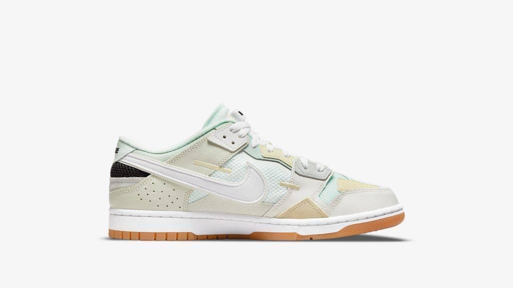 Nike Dunk Scrap Sea Glass mint green and white colourway