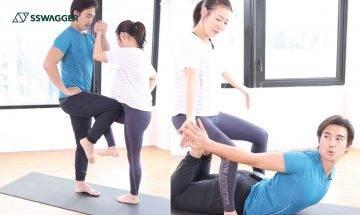 Owen吳雲甫夫妻檔示範6招!雙人運動輕易訓練手臂背