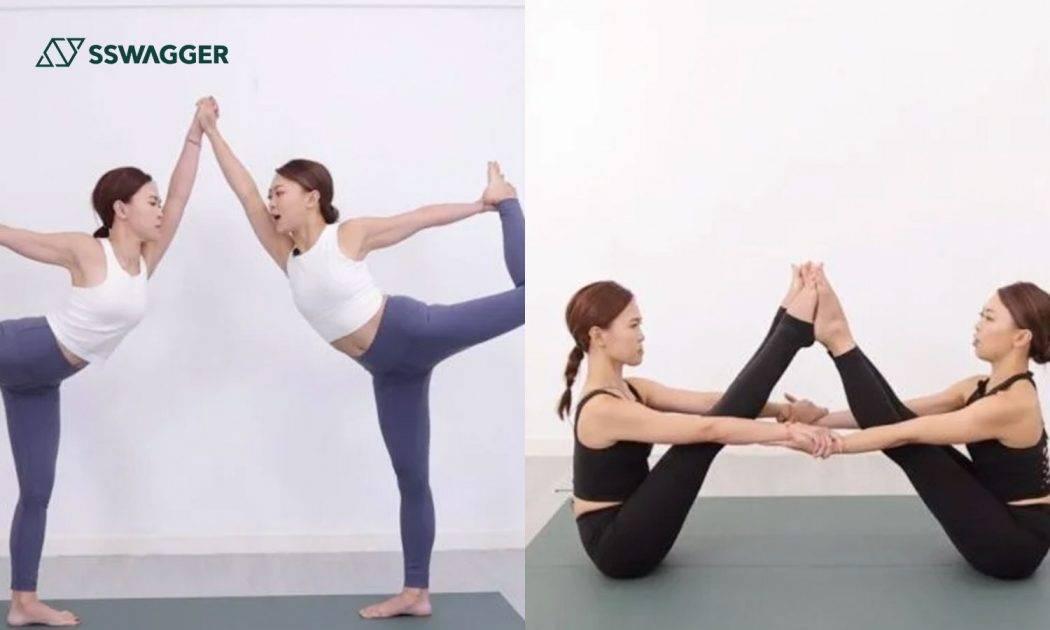雙人瑜伽訓練可修線條增肌?#PTLeague孿生瑜伽導師示範美背臀瑜伽-web