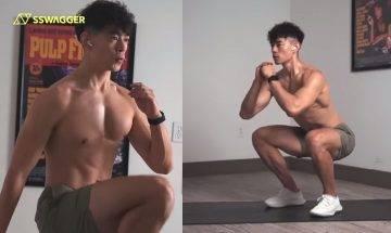 增肌減脂訓練每日10分鐘即可!人氣健身YouTuber示範徒手燃脂動作