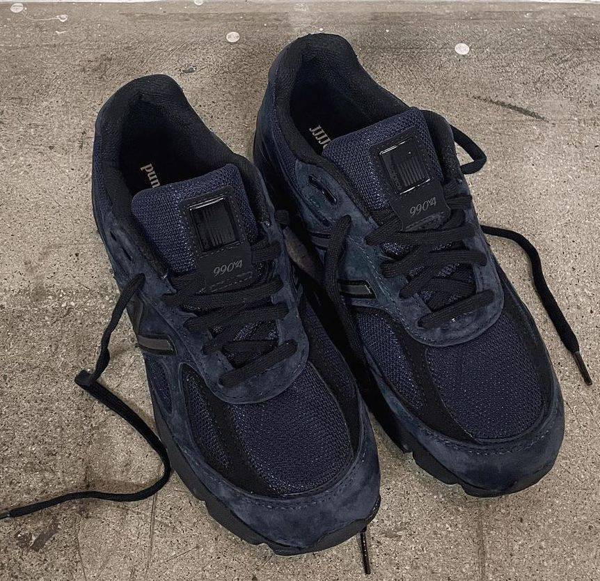 JJJJound x New Balance 990v4 black and navy colourway to be released in Fall Winter season 2021