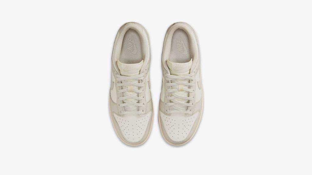 "Nike Dunk Low ""Sail Light Bone"" grey sail white colourway"