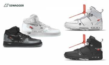Off-White x Nike Air Force 1 Mid新模擬圖曝光!哪個會是最終版本?